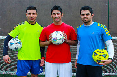 Abbas Farid Pro Football Freestyler with Kashif Siddiqi (founder) and Jayraj Jadeja (ambassador)