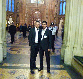 Abbas Farid (Pro Football Freestyler) and Kashif Siddiqi (Pro Footballer) at the Houses of Parliament - KSF Foundation.