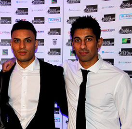 Abbas Farid (Pro Football Freestyler) and Kashif Siddiqi (Pro Footballer and founder of KSF Foundation).